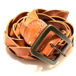Luckybrand cognac braised leather belt
